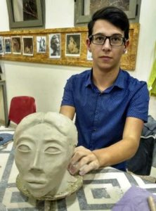 Beit Joie art therapy center student